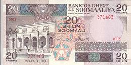 SOMALIA 20 SHILLINGS 1989 P 33d UNC */* - Somalia