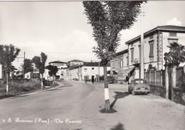 SAN ROMANO-PISA-VIA CAVOUR-AUTO-CAR-VOITURES-CARTOLINA VERA FOTOGRAFIA-VIAGGIATA IL 23-9-1965 - Pisa