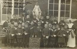 Themes Div-ref EE315- Carte Photo -ecole -ecoliers -mont Saint Jean - Mont St Jean -ste Anne - Sainte Anne -garcons 1917 - Postcards