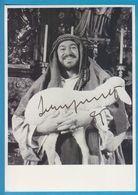 LUCIANO PAVAROTTI In Person Signed Photo AUTOGRAPHE / AUTOGRAMM  13/18 Cm - Autographes