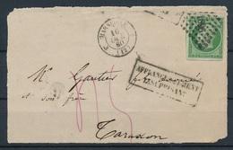 """DI-195: FRANCE: Lot Avec """"NAPOLEON"""" N°12 (margé) Seul Sur Devant De Lettre Du 16/10/1860 (affranchissement Insuffisant) - 1853-1860 Napoleon III"""