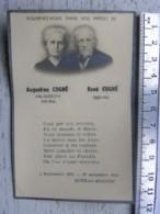 Image Religieuse - Décès Botz En Mauges - Augustine Cogné Née Lusson 1946 - René Cogné 1950 - Imágenes Religiosas