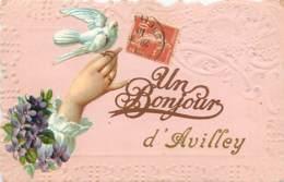 25 , AVILLEY , Un Bonjour , * 438 77 - France