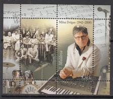 2012 Moldova Music Dolgan Keyboard Musician Souvenir Sheet MNH - Muziek