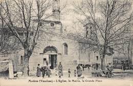 CPA Modène ( Vaucluse ) - L' Eglise, La Mairie, Le Grande Place - Autres Communes