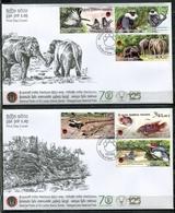 SRI LANKA 2019 NATIONAL PARKS OF SRI LANKA - WASGAMUWA NATIONAL PARK 2 FDC - Sri Lanka (Ceylan) (1948-...)