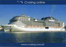 Paquebot Piroscafo Passenger Cruise Ship MSC Meraviglia - Paquebote