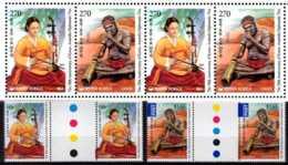2011 Musical Instruments Joint Issue Of S. Korea And Australia Both Countries AU Gutter Pairs /2 Sets Of S.Korea MNH** - Gemeinschaftsausgaben