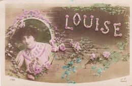 """93 .PAVILLONS SOUS BOIS.( A DESTINATION DE) CARTE FANTAISIE. CPA GLACÉE. PRENOM.  """"LOUISE"""" . ANNÉE 1911 - Prénoms"""