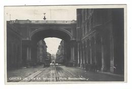 2714 - GENOVA VIA XX SETTEMBRE PONTE MONUMENTALE ANIMATA 1920 CIRCA - Genova