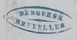GRIFFE DEBOURSE BRUXELLES  / Lettre N° 7 Margé D Anvers  Lsc - 1851-1857 Medaillen (6/8)