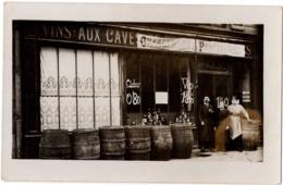 VINS AUX CAVES DE TOURAINE 1920 7 Avenue De La Gare Chateauroux Devanture Magasin  Carte Photo Vin - Chateauroux