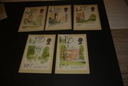 M7531 - Set On Cards - Philatelic Bureau Edinburgh 1980 - London Landmarks - 1952-.... (Elizabeth II)