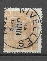 OBP33 Met Cirkelstempel Nivelles - 1869-1883 Léopold II