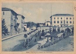 BUIA-UDINE-VIA ROMA E PIAZZA DEL MUNICIPIO-CARTOLINA VIAGGIATA IL 3-12-1946 - Udine