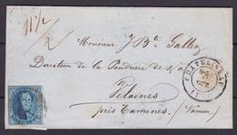 N° 11 A Juste / Lettre DOUBLE PORT De Chatelineau Vers Velaines 13oct 1860 Lsc - 1858-1862 Medallions (9/12)