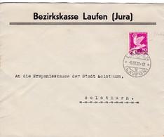 Brief Von Laufen Nach Solothurn Mi: 252. 9.XII.1932. Bezirkskasse Laufen ( Jura ) - Suisse