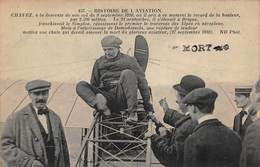 CPA HISTOIRE DE L'AVIATION - Chavez à La Descente De Son Vol Du 9 Septembre 1910 - Aviateurs