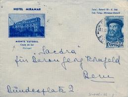 1945 PORTUGAL , ESTORIL - ALEMANIA , HOTEL MIRAMAR - MONTE ESTORIL - COSTA DO SOL , TRÁNSITO LISBOA - Briefe U. Dokumente