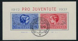 Suisse // Schweiz // Switzerland //  Pro-Juventute // 1937  Bloc-feuillet Oblitéré 15.01.1938 - Pro Juventute