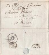 Lettre 1843 Arrivée Algérie /Description Ville /Citoyen Soldat /Clément Fg Babazou à Hôpital Militaire Besançon / Cachet - Documents Historiques