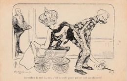 CPA ESPAGNE Spain Roi Alphonse XIII Caricature Satirique Politique Médaille Accrochée Au Cul Illustrateur   (2 Scans) - Satiriques