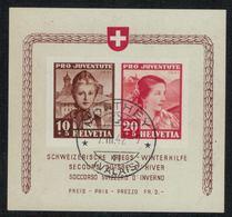 Suisse // Schweiz // Switzerland //  Blocs & Feuillet // Pro-Juventute  // 1942  Bloc Avec Cachet De Monthey 07.03.1942 - Pro Juventute
