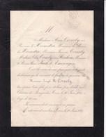 Tours Château De BEAUJARDIN Joseph M. CORNELY 52 Ans 1887 Famille Baronne De HEEMSTRA RAIKEM D'AMERONGEN - Obituary Notices
