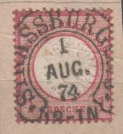 Hufeisenstempel Strassburg Auf Brustschild , 1874 - Germany