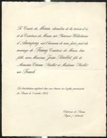Faire-Part De Mariage De Fanny Comtesse De Meran Avec Monsieur Jean Rolliot 1962 - Stainx ( Stainz ) En Autriche - Wedding