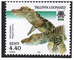 Estonia 2001 . Tallinn Zoo (Alligator). 1v: 4.40.  Michel # 419 - Estonia