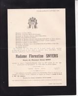 POUCET HANNUT TROGNEE Florentine SNYERS Veuve Zénon SENY 85 Ans 1906 Familles HUVENERS DELANGE OURY - Obituary Notices