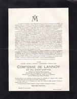 14-18 Médaille De La Reine Elisabeth Aline Comtesse De LANNOY 1867-1936 ANVAING De CHERISEY De La BOESSIERE THIENNES - Obituary Notices