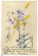 CARTE EN CELLULOID - Fleurs - Souvenir Affectueux - Autres