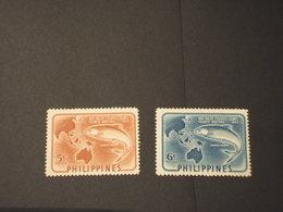 FIJI - 1952 PESCE 2 VALORI - NUOVI(++) - Fiji (1970-...)