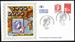 """Y/T  N° 3716 S/ FDC  - Oblitération """" PARIS - 10.11.2004"""" - 60 E Anniversaire De La Marianne D'Alger. - FDC"""