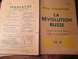 ROSA LUXEMBOURG LA REVOLUTION RUSSE  /MICHEL COLLINET - Livres, BD, Revues