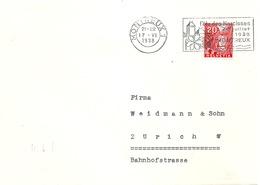 Brief  Montreux - Zürich  (Flagge: Fête Des Narcisses)        1938 - Covers & Documents