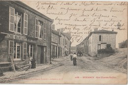 BUZANCY - Rue Charles Goffier. Familistère - Personnages. Carte Précurseur - Carte Animée. - Francia