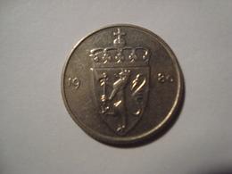 MONNAIE NORVEGE 50 ORE 1980 - Norvège