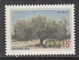 2011 Syria Olive Tree Complete  Set Of 1 MNH - Syrië