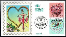 """Y/T  N° 3747/48 S/  FDC  - Oblitération """" PARIS - 29.01.2005"""" - Saint-Valentin: Coeurs 2005 De CACHAREL. - 2000-2009"""