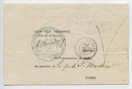 1ère Division Militaire 10e Conseil De Guerre Franchise De Sèvres En 1872 Sénéchal 7520 - 1849-1876: Periodo Classico