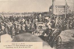 LUXEMBOURG - Visite Du Roi Albert Et La Reine Elisabeth Des Belges à Luxembourg Avril 1914 - Cartes Postales
