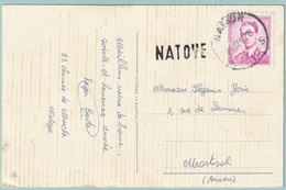 Langstempel / Griffe NATOYE Op Fantasiekaart - Stempel Namur - OCB 1067 - Marcofilia