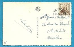 593 (Surtaxe / Tuberculose) Op Kaart Met Stempel MECHELEN - Briefe U. Dokumente