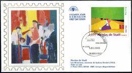 """Y/T  N° 3762 S/  FDC  - Oblitération """" GRENOBLE - 5.03.2005"""" - Artistique: Nicolas De Staël. - 2000-2009"""