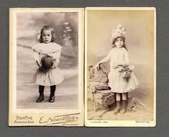 CDV - 2 Photos Anciennes; Berthe Angoulème; Allard Toulouse  - Fillettes; Coiffe - Anciennes (Av. 1900)