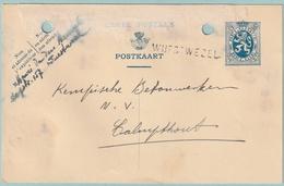 Langstempel / Griffe WUESTWEZEL Op Postkaart - Zie Beschrijving - Griffes Linéaires