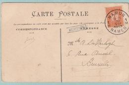 Langstempel / Griffe EGHEZEE Op Postkaart - Stempel Namur - Marcofilia